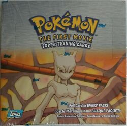 Pokemon Full Box - The First Movie Topps Trading Cards - Factory Sealed Box