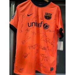 Barcelona Lionel Messi 10 Fc Best Lineup Signed Jersey Limited Away Shirt 2009