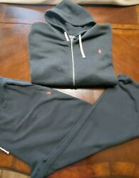 Polo 2pc Sweat Suit Black 4xb Pre-owned