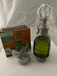 Vintage Avon Whale Oil Lantern Tai Winds After Shave Green Glass Bottle Nos