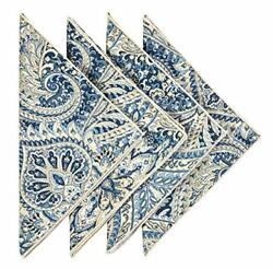 Cloth Napkins Table Linens Dinner Napkins 18andrdquox18 Blue Cotton Paisley Fabric ...