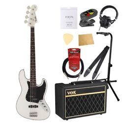 S21802 Fender Made In Japan Aerodyne Ii Jazz Bass Rw Awt Electric Base With Vox
