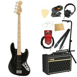S22352 Fender Made In Japan Hybrid Ii Jazz Bass Mn Blk Electric Base With Vox