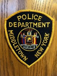 Middletown New York Police Patch - Orange County - New