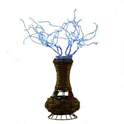 Saltoro Sherpi Tree Table Lamp With Aluminum Wire And Multiple Led, Blue