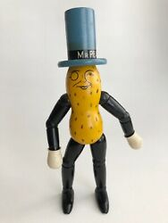 Vintage Wood Jointed Mr. Peanut Toy Doll Advertising Planters Nuts Schoenhut