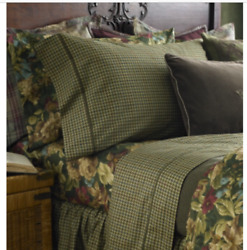 Edgefield Plaid Houndstooth Queen 4pc Sheet Set Sheets New