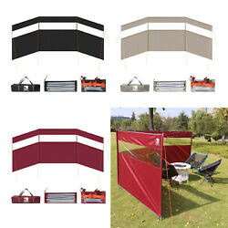 Large Camping Wind Shield Cooking Gas Windscreen Hiking Barbecue Bonfire