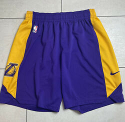 Nba Nike Los Angeles Lakers Player Issued Practice Shorts Size Xl