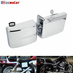 Pair Abs Side Panel Cover For Harley Dyna Fxdf Fxdc Fxdl Fxdls Fxdb Fxdwg 06-17