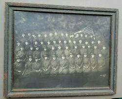 1910's Framed Photo...ladies Soldiers With American Flag By E. F. Foley New York