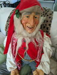 Vintage Christmas Phila Department Store Display Elf 42inches 1950s Rare