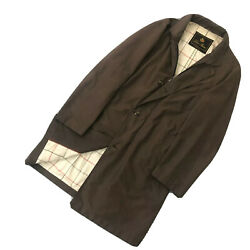 Auth Loro Piana Men Brown Storm System Wind Jacket Trench Coat Size L Large 50