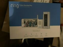Ring Video Doorbell Pro + Chime Pro Bundle Satin Nickle New