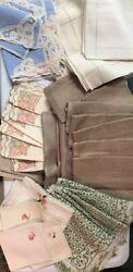Vintage Table Linens Lot. Linens, Embroidery, Lace