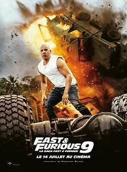 Fast And Furious 9 Vin Diesel - Affiche Cinema 40x60 - 120x160 Movie Poster