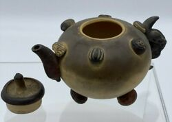 Chinese Yixing Handmade Teapot, Nuts And Seeds Extraordinary
