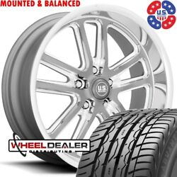 20 Inch Us Mags Bullet U130 Wheel And Tire Package For 5x5 C10 Squarebody Truck