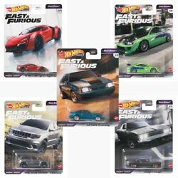 Hot Wheels 2021 Fast And Furious Premium Fast Stars Complete Set Of 5 Car