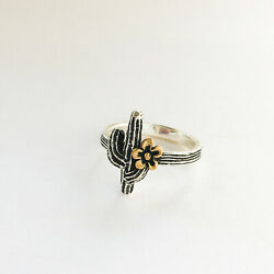 James Avery Cactus Blossom Ring Sterling Silver And Bronze Size 5