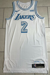 Lakers Quinn Cook Size 46 Team Issued Authentic Pro Cut Jersey City Edition 2021