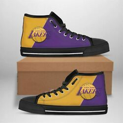 Los Angeles Lakers Nba Basketball Form Converse High Top Sneaker Canvas Shoes