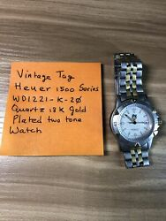 Vintage Tag Heuer 1500 Series Quartz 18k Gold Plated Two Tone