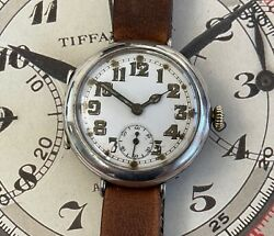 Stunning Early Silver Un-signed Omega Ww1 Trench Watch With Rare Hf Case