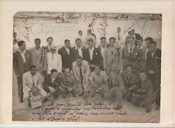 Original Uruguay 1947 Signed Photo With Some 1950 World Cup Champions Signatures