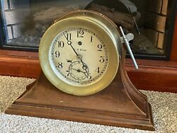 World War L Navy Pilot House Chelsea Clock From A Destroyer W/ History
