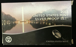 2013 Us Mint Silver Proof Set - Complete 14 Coin Set, Box, And Coa