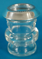 Antique Glass And Sterling Silver Toothpick/matchstick Holder By Saben