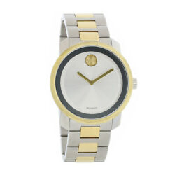 Movado Bold Series Mens Two Tone Stainless Steel Swiss Quartz Watch 3600431