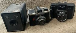 Collection Of Three Old Cameras