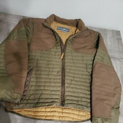 Menand039s Size M Eddie Bauer Sport Shop Storm Goose Down Puffer Hunting Jacket