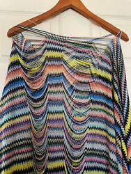 Missoni Made In Italy Shawl Scarf Colorful Zig Zag Nwot