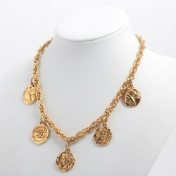 Coco Mark Necklace Gold Plated Gold Coin