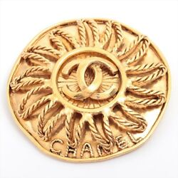 Coco Mark 94a Brooch Gold Plated Gold