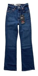 Levi's Womens Nwt Button Fly Ribcage Bootcut Denim Turn Up Jeans 369340001