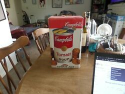 Campbell's Condensed Tomato Soup Cookie Jar Can Opener Lid 1999 Gibson Rare Nos