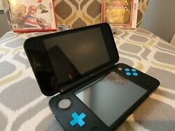 Nintendo 2ds Xl With Mario Kart 7-zelda-ocarina Of Time 3d And Alttp-luigu Mansion