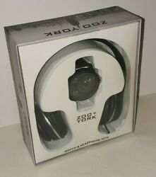 Zoo York Chronograph Leather Strap Watch And Over The Ear Headphones Gift Set