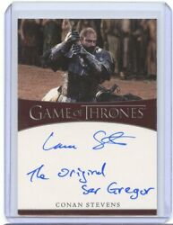 2021 Game Of Thrones Iron Anniversary Conan Stevens As Gregor Clegane Auto