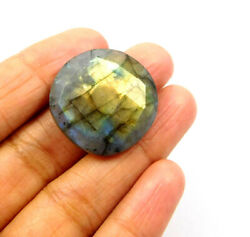 34 Cts. 100 Natural Round Faceted Labradorite Loose Cab Gemstone Rm21316