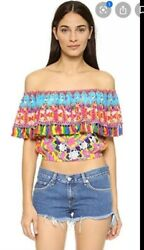 Camilla Childs Play Midriff Frill Top 4 Express Size 1 Small Franks Ruffle Silk