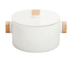 Aava Nordic Serving Bowl With Wooden Knobs And Lid