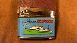 Vintage Advertising Lighter S.s Milwaukee Clipper Great Lakes Ship Lake Michigan