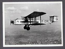 Imperial Airways Armstrong Whitworth Argosy G-eblf Large Vintage Airline Photo