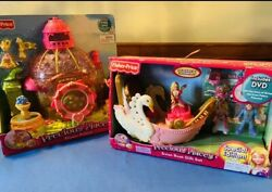 Fisher-price Precious Places Swan Palace Flower Palace And Swan 🦢 Boat Gift Set