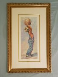 Lucelle Raad Long Shot Basketball Limited Edition Lithograph Print Signed